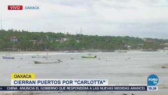 Cierran Puertos Oaxaca Tormenta Tropical Carlotta