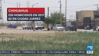 Ciudad Juárez suma 400 homicidios violentos