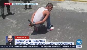 Ciudadanos retienen a presunto ladrón en