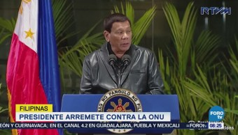 Duterte Arremete Contra Onu