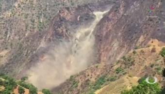 Colapsa muro en la mina Río Tinto