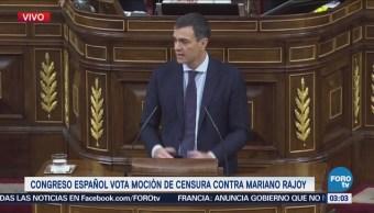 Congreso español vota censura contra Rajoy