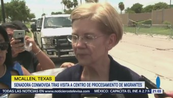 Conmueve Senadora Demócrata Visita Centro Migrantes