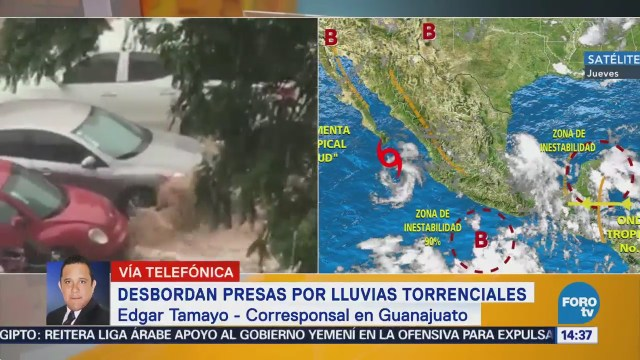 Continúa Desfogue Presas Guanajuato Luego Tormenta