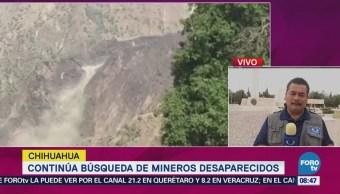 Continúa la búsqueda de mineros desaparecidos