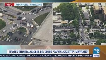 Tirador Activo Maryland Capital Gazette Estados Unidos