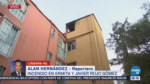 Controlan Incendio Departamento Delegación Iztapalapa CDMX