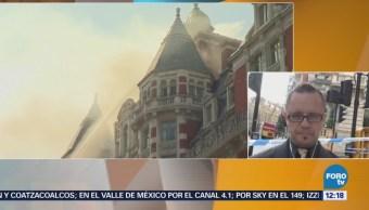 Controlan incendio en hotel de lujo en Londres