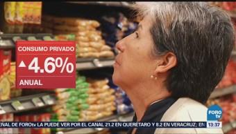 Crece consumo privado en mercado interno