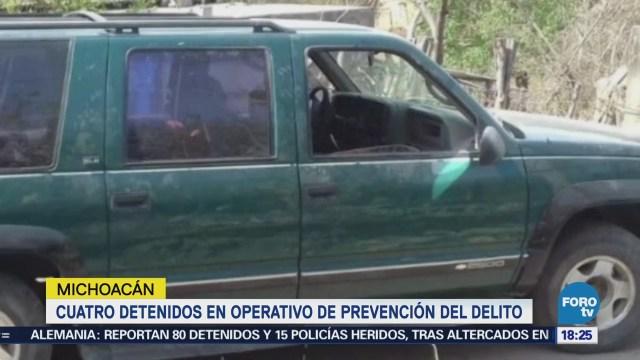 Cuatro Detenidos Operativo Prevención Delito Michoacán