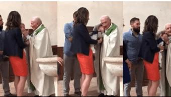 Cura que abofeteó a bebé en Francia no podrá celebrar bautizos