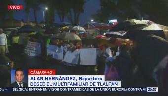 Damnificados Multifamiliar Tlalpan Preparan Bloqueo CDMX
