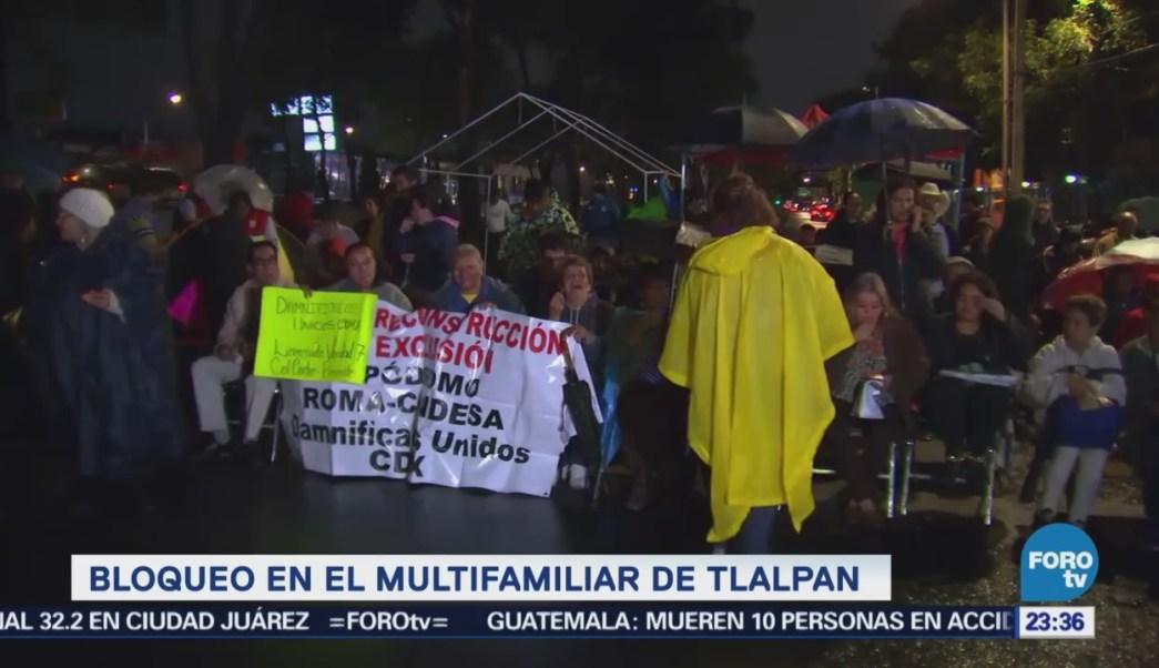 Damnificados Sismo Mantendrán Plantón Tlalpan CDMX