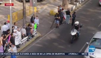 Damnificados protestan en Calzada de Tlalpan