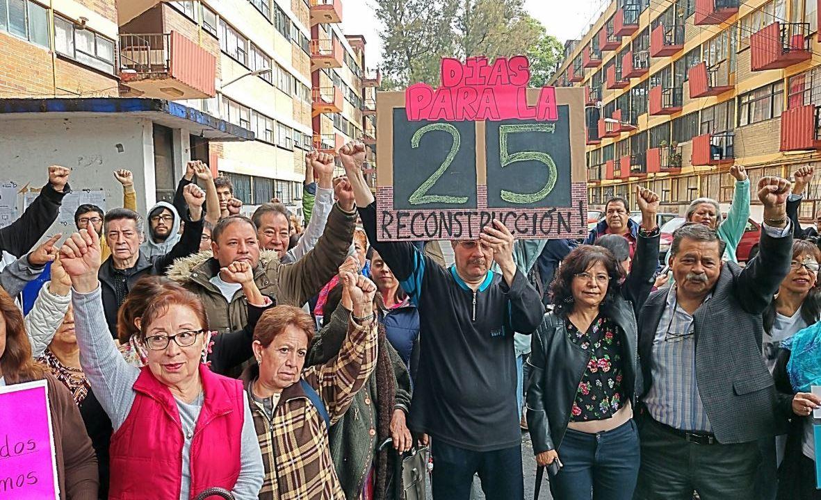 Damnificados del 19S celebran aprobación de presupuesto