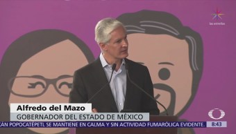 Del Mazo firma decreto de ley 'Familias fuertes'