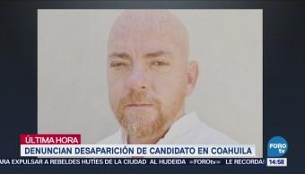 Denuncian Desaparición Candidato Morena Coahuila