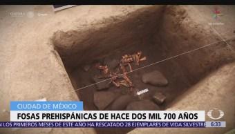 Descubren fosas prehispánicas en delegación Álvaro Obregón, CDMX