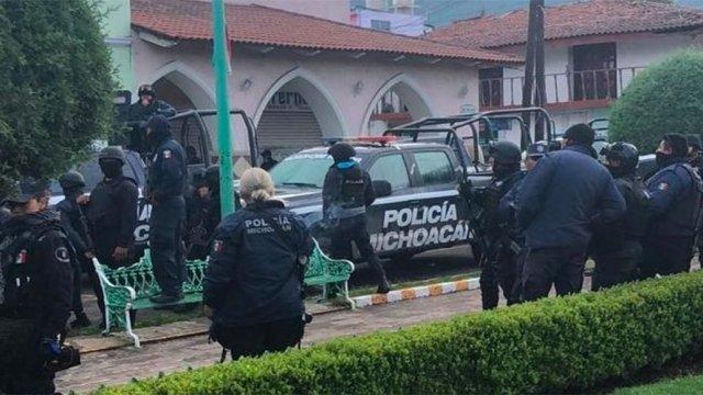 detienen policias ocampo michoacan investigacion seguridad