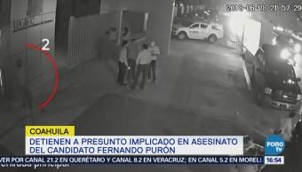 Detienen Implicado Homicidio Candidato Purón Coahuila