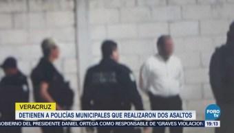 Detienen Policías Municipales Realizaron Asaltos Veracruz