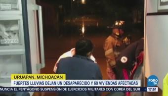 Fuertes Lluvias Dejan Desaparecido Michoacán