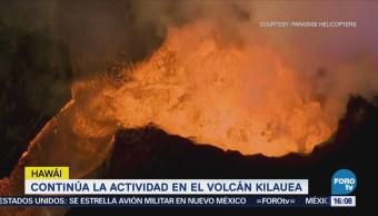 Continúa Actividad Volcán Kilauea