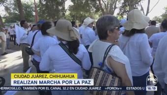 Realizan Marcha Paz Ciudad Juárez Chihuahua