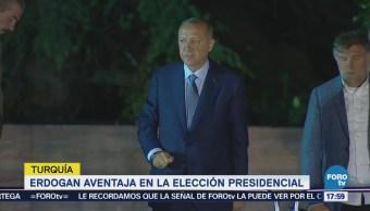 Erdogan Aventaja Elección Presidencial Turquía