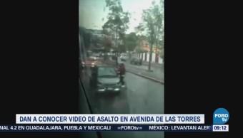 Difunden video de asalto en avenida de Las Torres