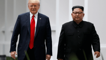 Trump muestra a Kim un video sobre los beneficios de paz