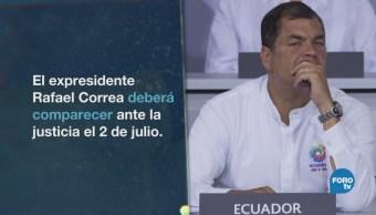 Ecuador Quiere Rafael Correa Ante Justicia