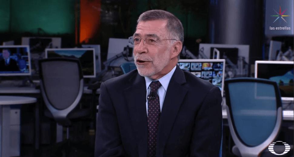 El periodista René Delgado. (Noticieros Televisa)