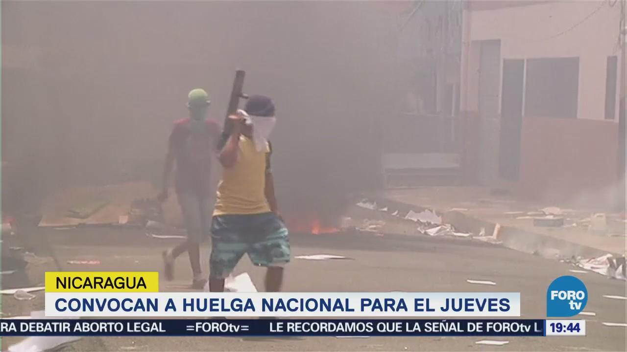 Empresarios Convocan Huelga Nacional Nicaragua