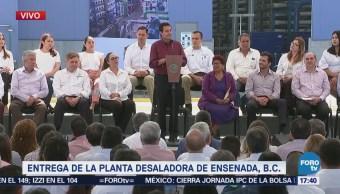 Epn Entrega Planta Desaladora Ensenada Bc