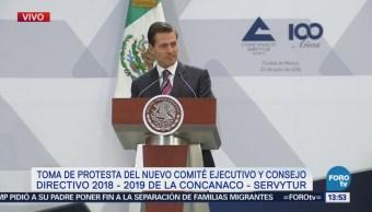 EPN toma protesta al nuevo comité ejecutivo