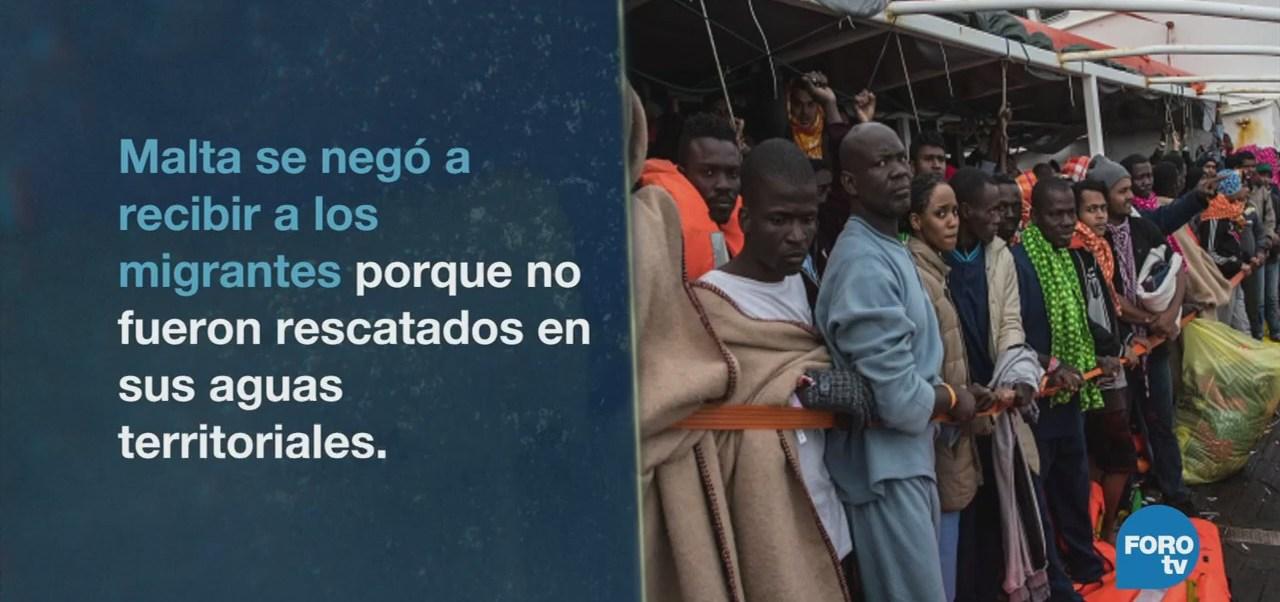 España recibe inmigrantes del Aquarius