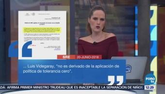 EU informa a SRE sobre caso de niña migrante con síndrome de Down