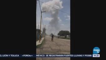 Explota Polvorín Tultepec Estado De México