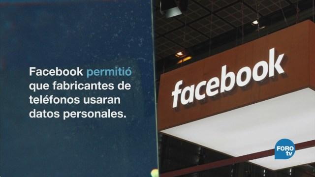 Facebook comparte datos con fabricantes de