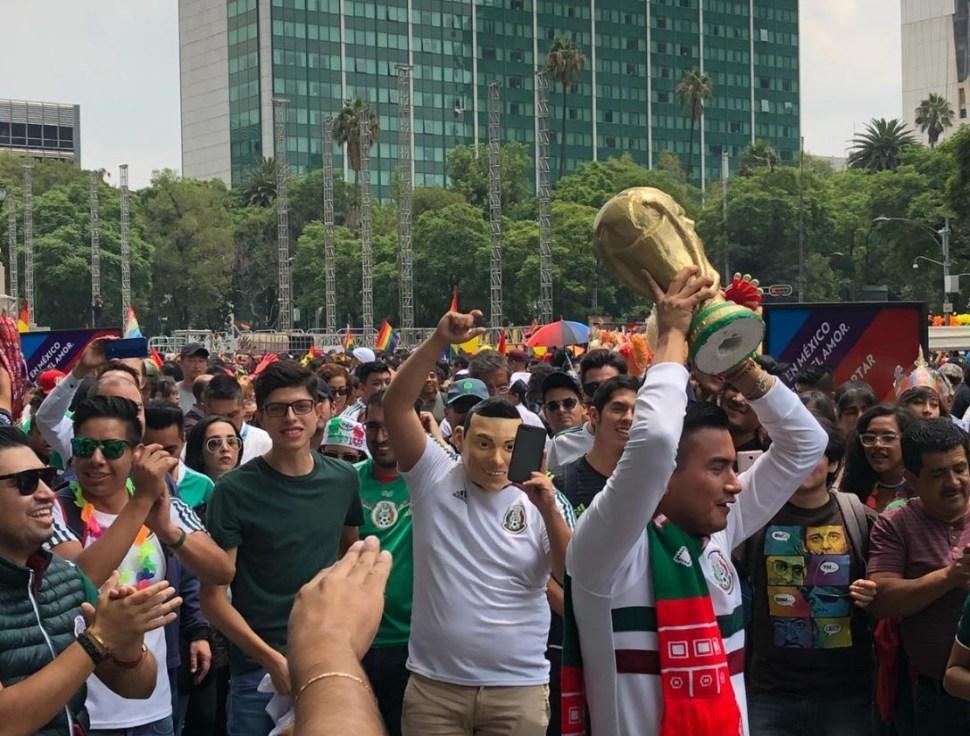 Triunfo de México y marcha del orgullo gay CDMX