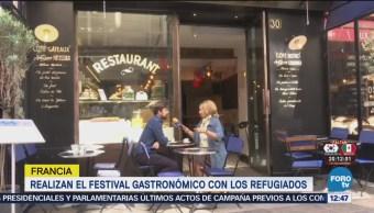 Francia Realiza Festival Gastronómico Refugiados