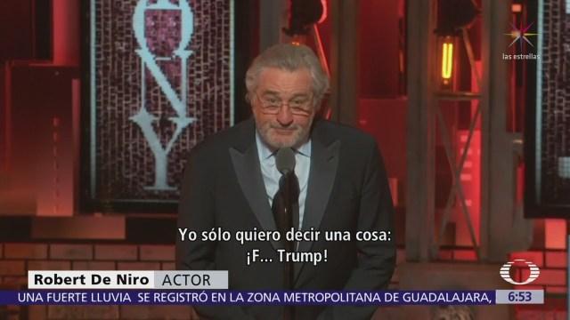 Fuck Trump, dice De Niro en entrega de premios Tony