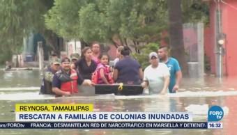 Fuerzas federales apoyan familias damnificadas en Tamaulipas