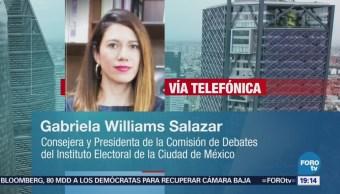 Gabriela Williams Debate Candidatos Gobierno Cdmx
