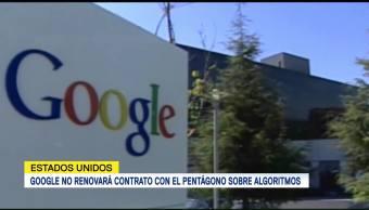 Google No Renovará Contrato Pentágono Sobre Algoritmos