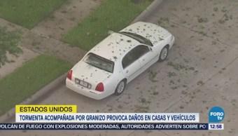 Granizada provoca daños en ciudades de Texas
