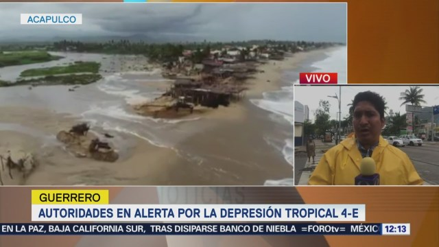 Guerrero Alerta Depresión Tropical 4-E