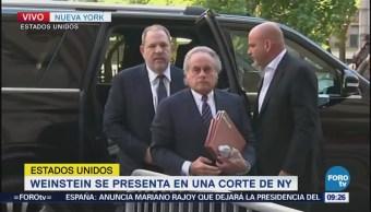 Harvey Weinstein se presenta en una corte de Nueva York