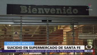 Hombre se suicida en supermercado de Santa Fe, CDMX